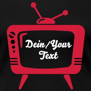 TV - din text - teve T-shirts - Premium-T-shirt dam