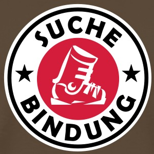 Suche Bindung - Single 3C Design T-Shirt Brown - Männer Premium T-Shirt