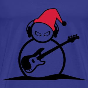 Christmas Guitarist Men's Classic T-shirt - Men's Premium T-Shirt