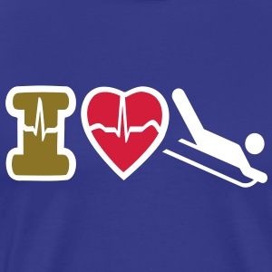 I LOVE WINTER SPORTS - Men's Premium T-Shirt