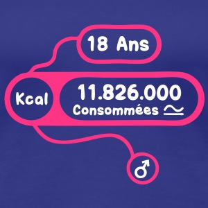 18 ans kcal calories consommees Tee shirts - T-shirt Premium Femme