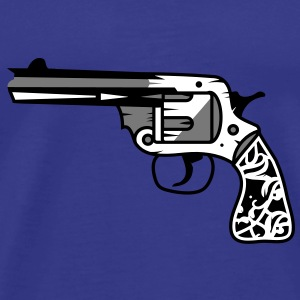 old revolver with ornamental decorations on the grip T-Shirts - Men's Premium T-Shirt