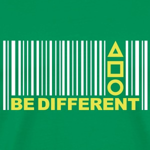 Be Different - Barcode - Simboli - Codice a barre T-shirt - Maglietta Premium da uomo