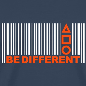 Be Different - Barcode - Strichcode - Symbole T-Shirts - Männer Premium T-Shirt