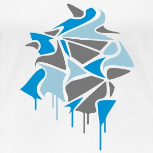 various abstract shapes in graffiti style and dripping paint  T-Shirts - Women's Premium T-Shirt