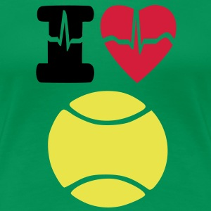 I LOVE TENNIS - Women's Premium T-Shirt