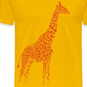 giraffe afrika serengeti camelopard safari zoo animal wildlife desert T-Shirts - Men's Premium T-Shirt