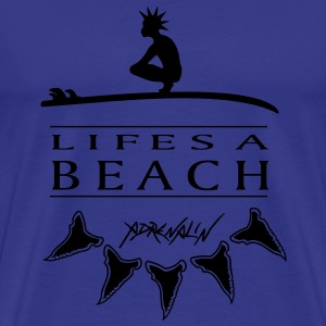 Lifes a Beach - Premium T-skjorte for menn