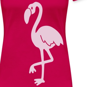 flamingo pink lagoon laguna bird holiday tropic sunset florida miami T-Shirts - Women's Premium T-Shirt