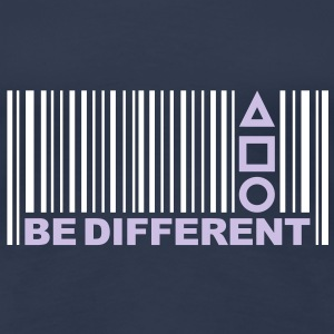 Be Different - Være anderledes - Barcode - Stregkode T-shirts - Dame premium T-shirt