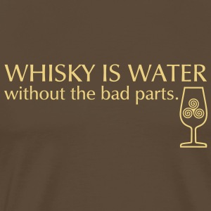 Whisky is water T-Shirts - Männer Premium T-Shirt