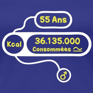 55 ans kcal calories consommees Tee shirts - T-shirt Premium Femme