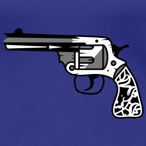 old revolver with ornamental decorations on the grip T-Shirts - Women's Premium T-Shirt