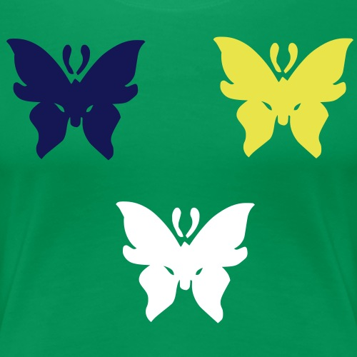 3 Coloured Butterflyies