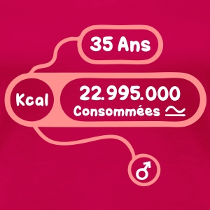 35 ans kcal calories consommees Tee shirts - T-shirt Premium Femme