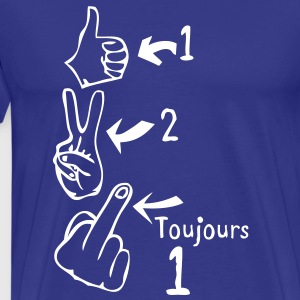 ok pouce v victoire fuck toujours1 Tee shirts - T-shirt Premium Homme