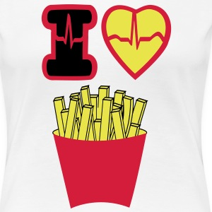 I LOVE FRENCH FRIES - Women's Premium T-Shirt