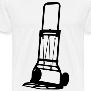 trolley barrow cart profession T-Shirts - Men's Premium T-Shirt