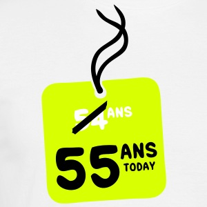 54 past 55 ans today etiquette Tee shirts - T-shirt Homme