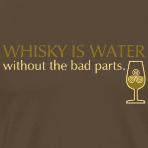 Whisky is water, bicolor T-shirts - Herre premium T-shirt