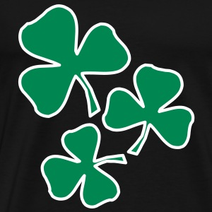 2 colors - Kleeblatt Irland Sankt Patricks Day Shamrock Ireland Saint T-Shirts - Men's Premium T-Shirt