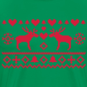 Christmas Embroidery T-Shirts - Men's Premium T-Shirt