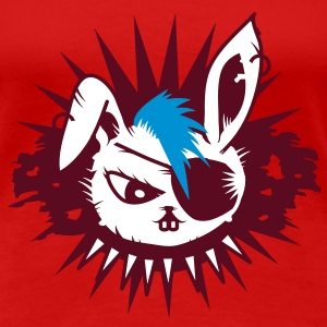 rabbit with an eye patch and a mohawk T-Shirts - Frauen Premium T-Shirt
