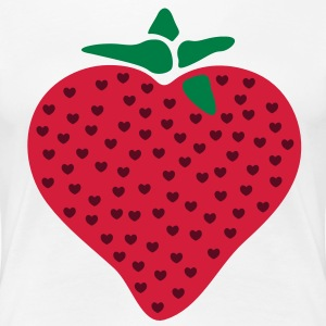 I Heart Love Strawberry T-Shirts - Women's Premium T-Shirt
