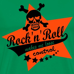 rocknroll makes me loose controll - star - Männer Premium T-Shirt