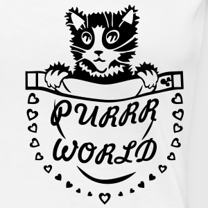 'Purrr World' Damer girlie-shirt - Dame premium T-shirt