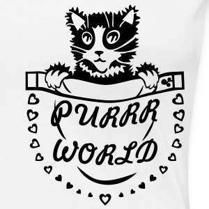 'Purrr World' Women's Girlie Shirt - Women's Premium T-Shirt
