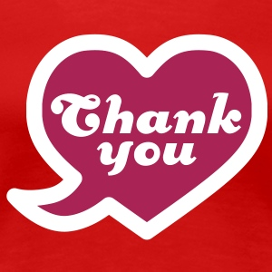 Thank you | Heart | Danke | Herz T-Shirts - Premium-T-shirt dam