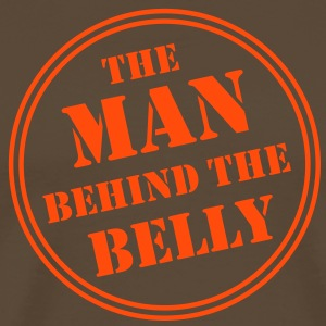 MAN BEHIND THE BELLY T-Shirt OB - Men's Premium T-Shirt