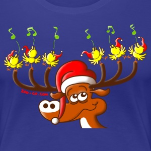 Birds' and Deer's Christmas Concert T-Shirts - Women's Premium T-Shirt