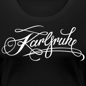Sort Tatovering Girl - Til Hood Karlsruhe - for mørk T-shirts - Dame premium T-shirt
