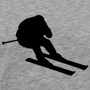 skier going fast / downhill skiing T-Shirts - Men's Premium T-Shirt