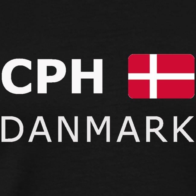 Classic T-Shirt CPH DANMARK white-lettered