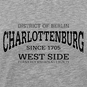 Charlottenburg Berlin West Side (black oldstyle) - Männer Premium T-Shirt
