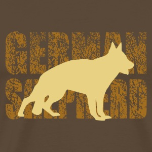 german shepherd - Herre premium T-shirt