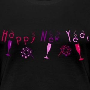 happy_new_year_bubble_champagne_fireworks Tee shirts - T-shirt Premium Femme