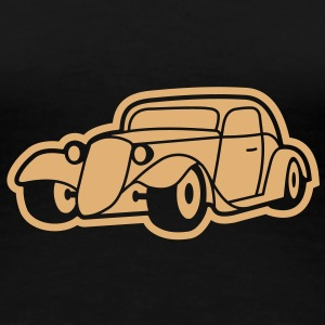 1 colors - Hot Rod Oldtimer Custom Cars Automobil Tuning T-skjorter - Premium T-skjorte for kvinner