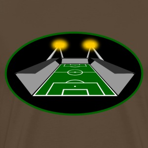 Floodlit game football stadium  T-Shirts - Men's Premium T-Shirt