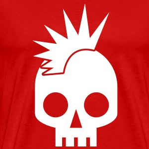 PUNK BABY skull with mohawk T-Shirts - Men's Premium T-Shirt