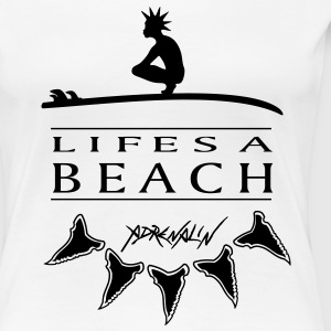 Lifes a Beach Girlieshirt - Frauen Premium T-Shirt