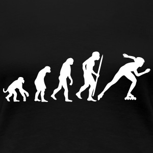 Evolution of inline speed skating  T-Shirts - Women's Premium T-Shirt