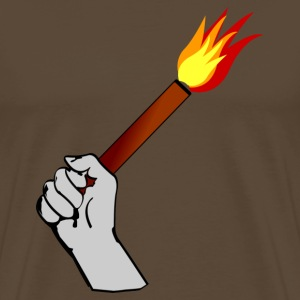 In keeping with the rise of pyrotechnics in football - Men's Premium T-Shirt