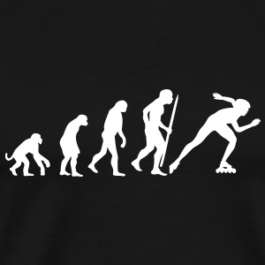 Evolution of inline speed skating  T-Shirts - Men's Premium T-Shirt