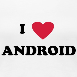 I love Android T-Shirts - Frauen Premium T-Shirt