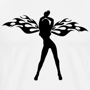 angel woman sexy sex tribal wings T-skjorter - Premium T-skjorte for menn
