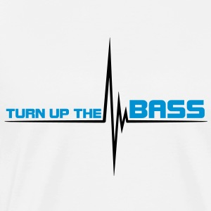 turn_up_the_bass T-shirts - Herre premium T-shirt